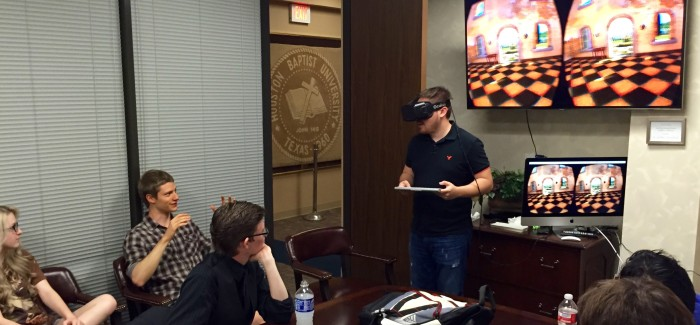 Students Demo Oculus Rift VR System