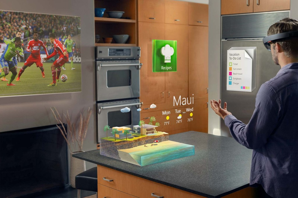 Sample of Microsoft's HoloLens AR technology