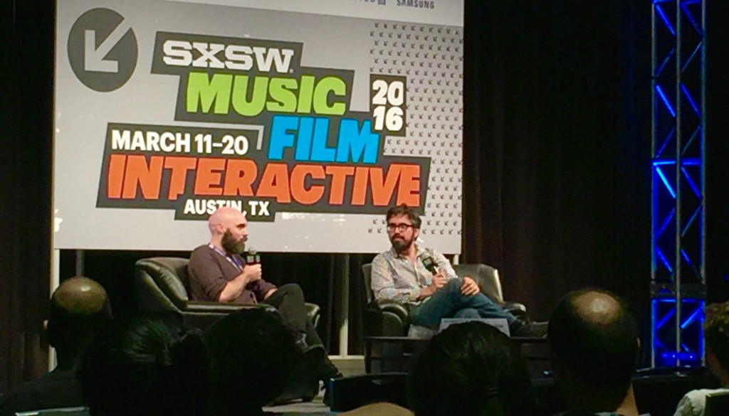 Filmmakers David Lowery and Andrew Bujalski