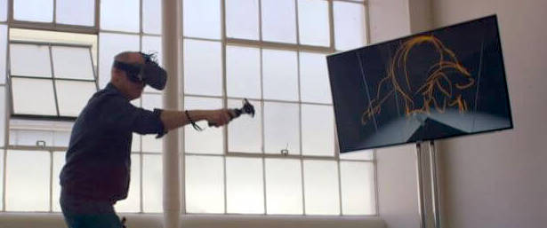 Painting in virtual reality with Tilt Brush